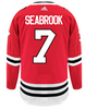 Men's Chicago Blackhawks Brent Seabrook Adidas Red Authentic Player Jersey