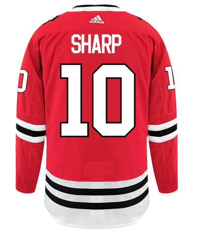 Men's Chicago Blackhawks Patrick Sharp Adidas Red Authentic Player Jersey