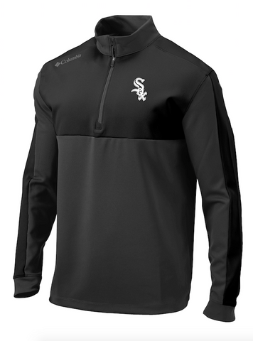 Mens Chicago White Sox Columbia Waggle 1/4 Zip Pullover Jacket