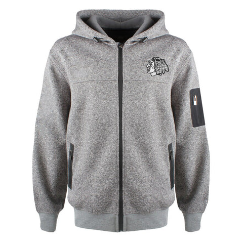 Chicago Blackhawks Stockton Full Zip  Hooded Sweater By Old Time Hockey