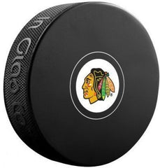 Chicago Blackhawks NHL Hockey Souvenir Autograph Puck By In Glass Co/Sherwood
