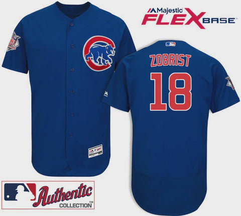 Chicago Cubs Ben Zobrist Authentic On-Field Flex Base Jersey
