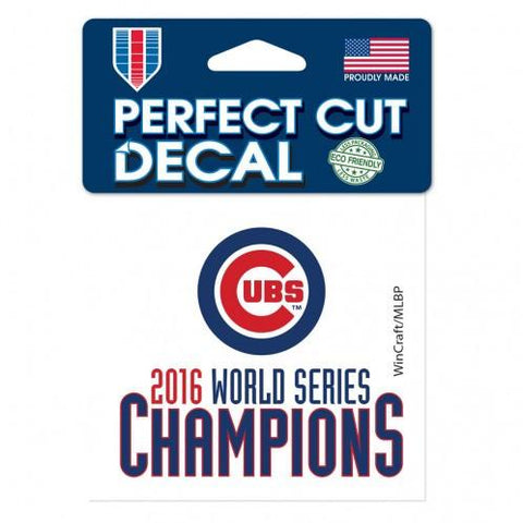 "Chicago Cubs 2016 World Series Champions Perfect Cut Color Decal 4"" x 4"