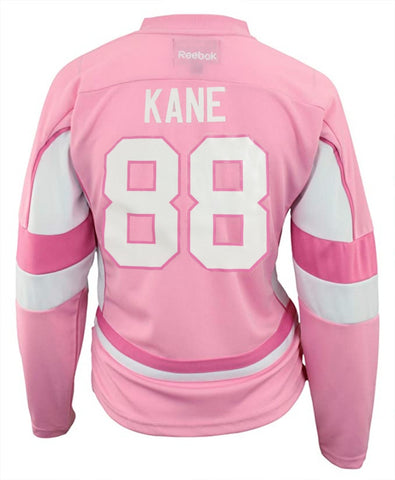 Youth Girls Patrick Kane Chicago Blackhawks Pink Replica Player Jersey