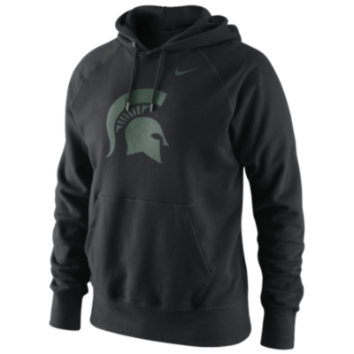 Men's Michigan State Spartans Black Classic Logo Fleece Hoodie