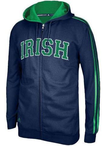 adidas Mens Notre Dame Fighting Irish College Statement Full-Zip Hoodie