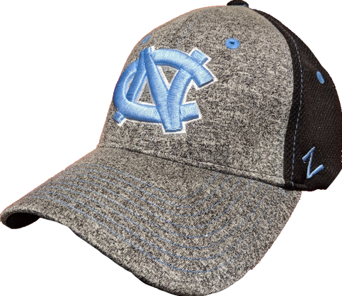 North Carolina Tar Heels NCAA Zephyr Graphite Two Tone Stretch Fit Hat