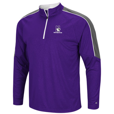 Men's NCAA Northwestern Wildcats Performance 1/4 Zip Windshirt By Colosseum Athletics