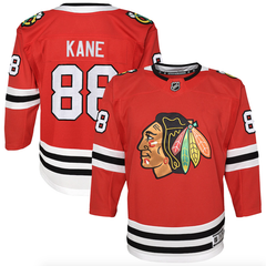 Youth Chicago Blackhawks Patrick Kane Red Home Premier Player Jersey (updated collar)