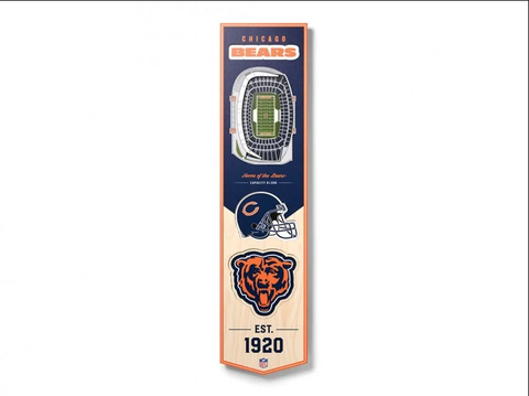 Chicago Bears 8'' x 32'' 3D StadiumView Banner