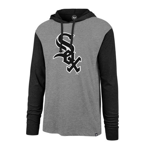 '47 Brand Men's Chicago White Sox Slate Gray Imprint Callback Club Hooded Long Sleeve Tee