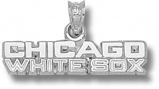 LogoArt Chicago White Sox Sterling Silver ''CHICAGO WHITE SOX'' 1/4'' Pendant