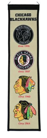 Chicago Blackhawks Fan Favorite Heritage Banner