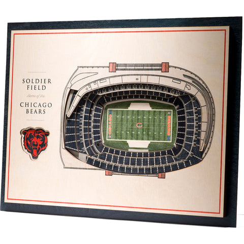 Chicago Bears 17'' x 13'' 5-Layer StadiumViews 3D Wall Art