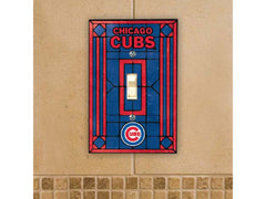 Chicago Cubs Art Glass Single Light Switch Cover