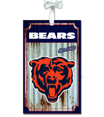 Chicago Bears Corrugated Metal Ornament