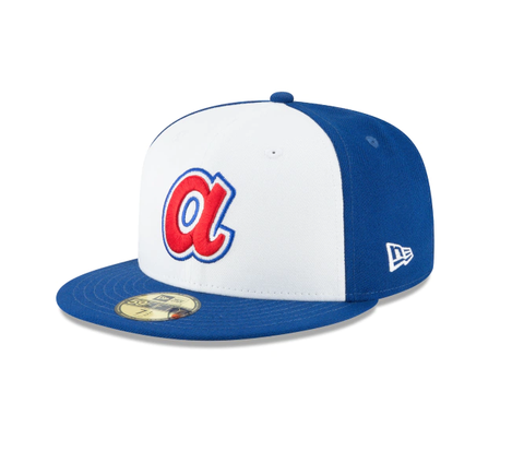 Men's Atlanta Braves Cooperstown Collection White/Royal 59Fifty Fitted Hat