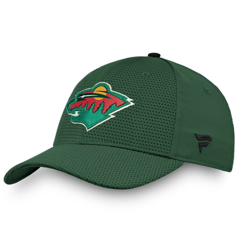 Men's Minnesota Wild Fanatics Branded Green Authentic Pro Rinkside Flex Hat