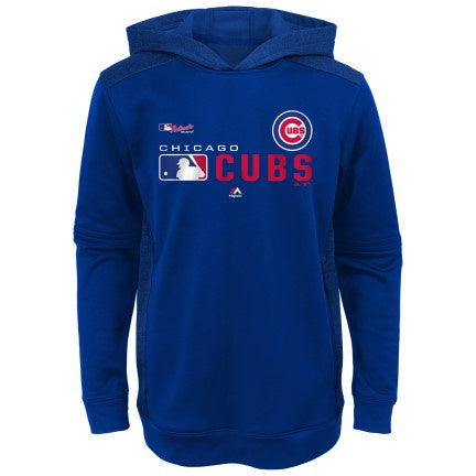 Youth Chicago Cubs Majestic Black Authentic Collection Winning Streak Pullover Hoodie