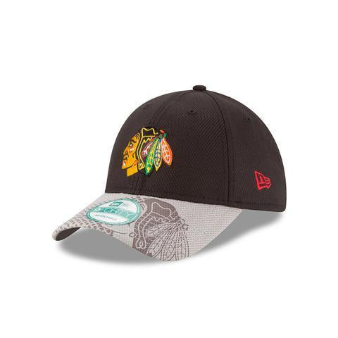 Youth NHL New Era Chicago Blackhawks Junior Team Slide Adjustable Hat