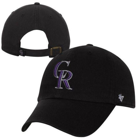Colorado Rockies Clean Up Adjustable Game Dad Hat By '47 Brand
