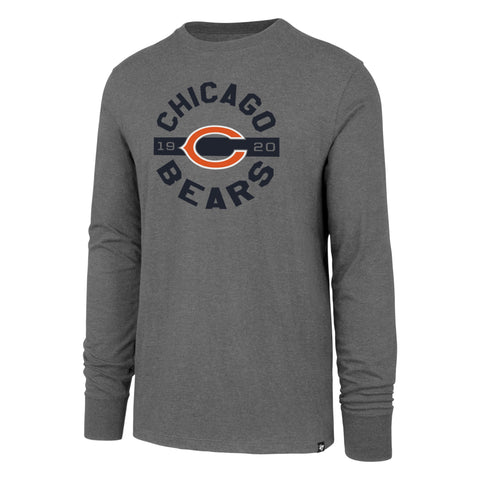 Chicago Bears Wolf Grey Roundabout Long Sleeve Club Tee By '47 Brand