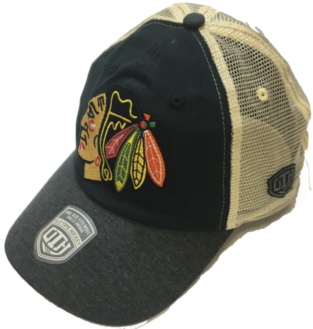 Men's Chicago Blackhawks Boone Unstructured Baseball Adjustable Mesh Back Hat