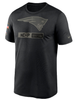 Men's New England Patriots Nike Black 2020 Salute to Service Team Logo Performance T-Shirt