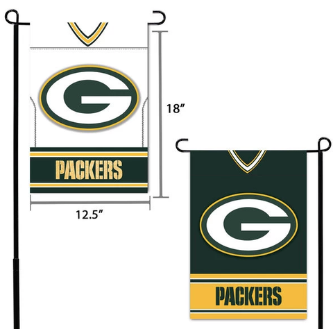 "NFL Green Bay Packers 12.5"" x 18"" Double-Sided Jersey Foil Garden Flag"
