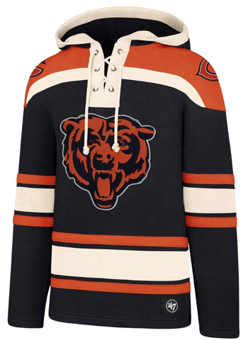 Chicago Bears Superior Lacer Hoodie By '47 Brand