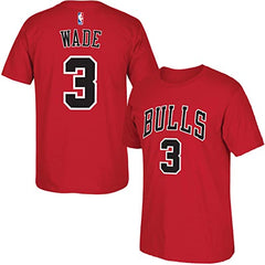 adidas Dwyane Wade Chicago Bulls Red Youth Name and Number T-Shirt