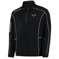 Men's Chicago Bulls Black Shotgun Omni-Wick 1/4 Zip Pullover Jacket