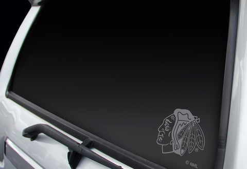 CHICAGO BLACKHAWKS WINDOW GRAPHIC- Silver - Pro Jersey Sports