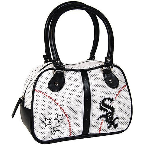 Chicago White Sox Ladies White Bowler Purse - Pro Jersey Sports