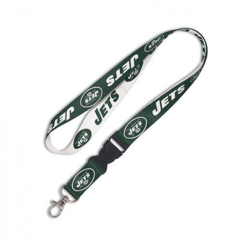"New York Jets Lanyard w/detach. buckle 3/4"" - Pro Jersey Sports"