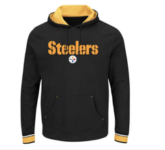 Men's Steelers Majestic NFL Classic Heavyweight V Crew Sweatshirt