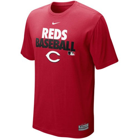 NIKE Cincinnati Reds MLB Authentic Collection Graphic Performance T-Shirt - Red