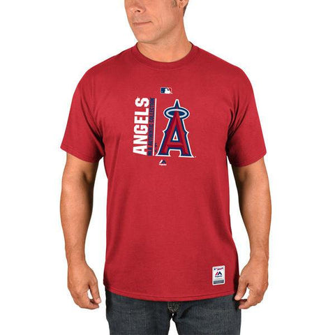 Men's MLB Los Angeles Angels of Anaheim Majestic Red Authentic Collection Team Icon T-Shirt