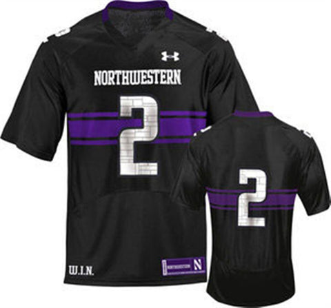Under Armour Northwestern Wildcats 2 Adult Replica Football Jersey - Black