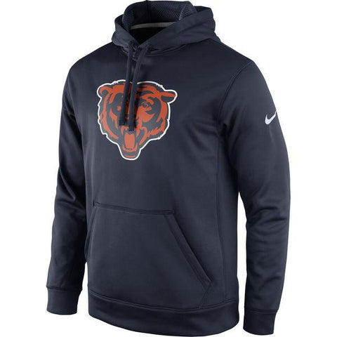 Chicago Bears Adult Nike Navy Circuit Logo Essential Performance Pullover Hoodie