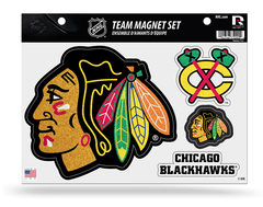BLACKHAWKS TEAM MAGNET SHEET-Glitter - Pro Jersey Sports