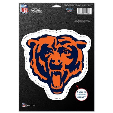 "CHICAGO BEARS Die Cut Logo Magnet 6.25"" x 9"" - Pro Jersey Sports"