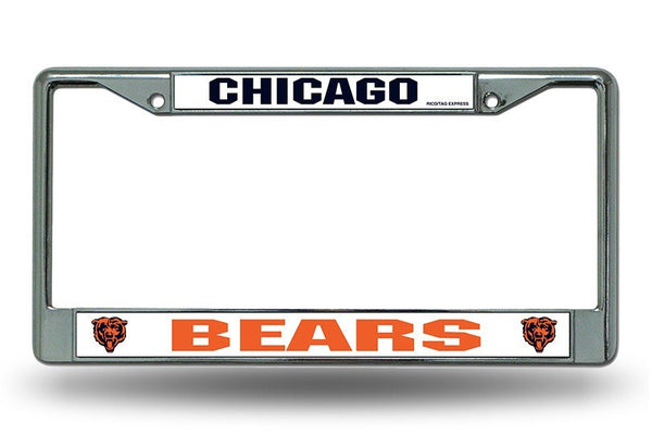 Chicago Bears License Plate Frame Pro Jersey Sports
