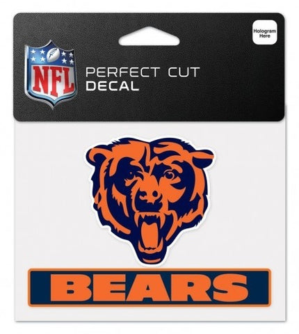"CHICAGO BEARS PERFECT CUT COLOR DECAL 4.5"" X 5.75"" - Pro Jersey Sports"