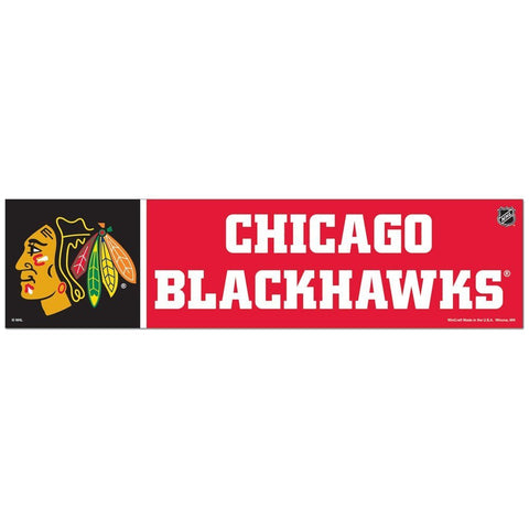 "CHICAGO BLACKHAWKS BUMPER STRIP 3"" X 12"" - Pro Jersey Sports"