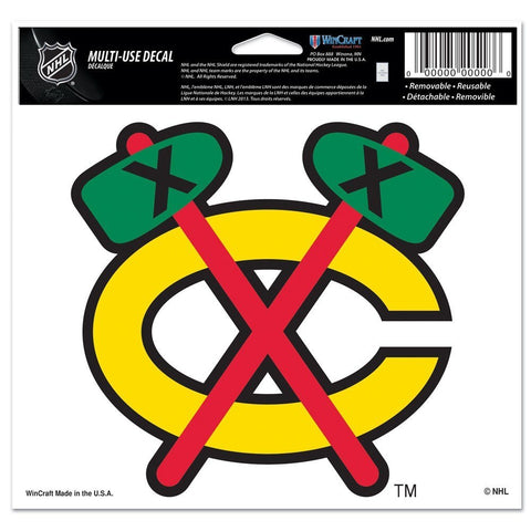 "CHICAGO BLACKHAWKS MULTI-USE COLORED DECAL 5"" X 6"" - Pro Jersey Sports"