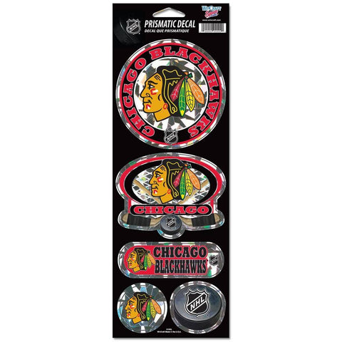 Chicago Blackhawks 4X11 Prismatic Decal Sheet By Wincraft