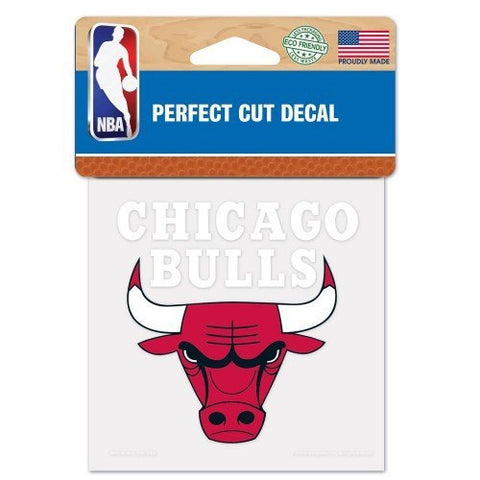 "CHICAGO BULLS Perfect Cut Color Decal 4"" x 4"" - Pro Jersey Sports"