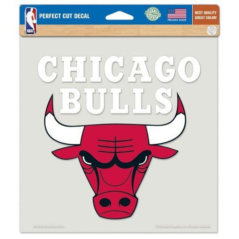 "CHICAGO BULLS Perfect Cut Color Decal 8"" x 8"" - Pro Jersey Sports"