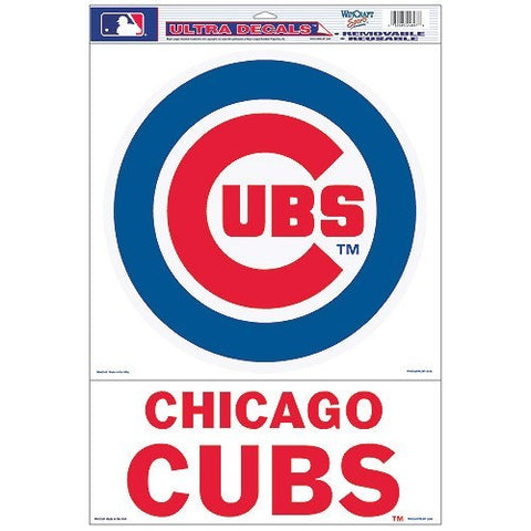 WinCraft Chicago Cubs 11x17 Ultra Decal - Pro Jersey Sports